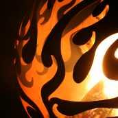 Аренда садового камина с орнаментом пламени