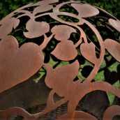Аренда садового камина с романтической темой