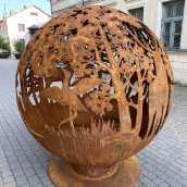 Аренда садового камина с мотивом леса   UGUNSBUMBAS.LV