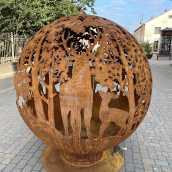 Аренда садового камина с мотивом леса | UGUNSBUMBAS.LV